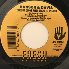 HANSON & DAVIS:COME TOGETHER(LABEL SIDE-B)
