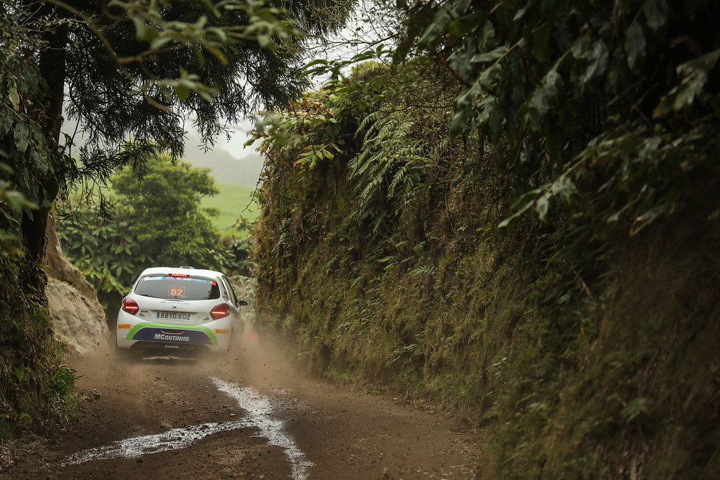 52 GAGO Diogo (prt), RAMALHO Miguel, Peugeot 208 R2, action during the 2018 European Rally Championship ERC Azores rally,  from March 22 to 24, at Ponta Delgada Portugal - Photo DPPI