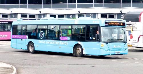 YT09 ZBO 'arriva midlands' No. 3569 'new logo arriva'. Scania N230UB / Scania OmniCity /3 on Dennis Basford's railsroadsrunways.blogspot.co.uk'