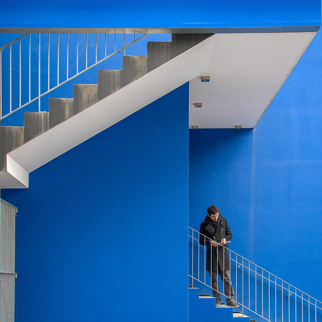 The blue staircase