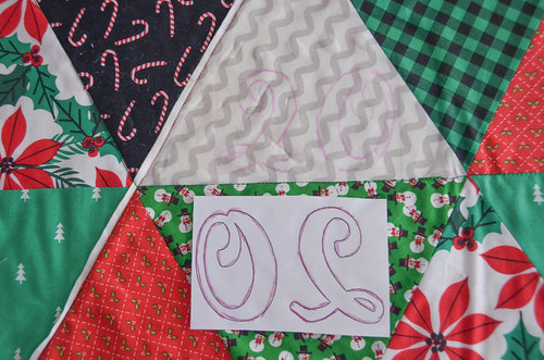A5. Remove paper, hand-quilt or embroider the outline left