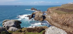 The view from Cornwall's beautiful South West Coastal Path at Lands End