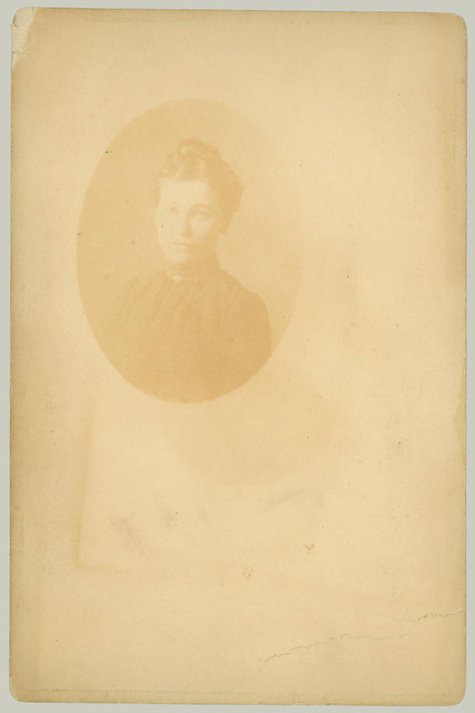 Cabinet Card Young man reverse