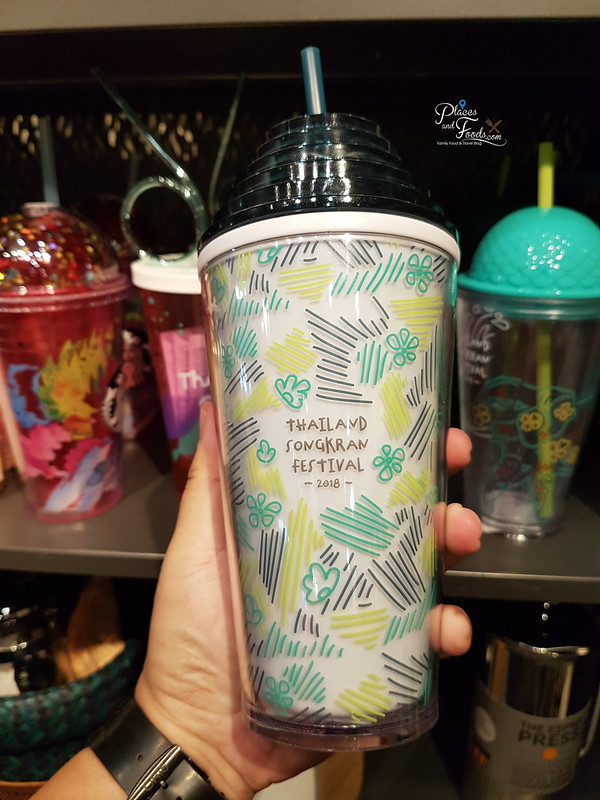 Starbucks Thailand Songkran Day 2018 Collections white writing