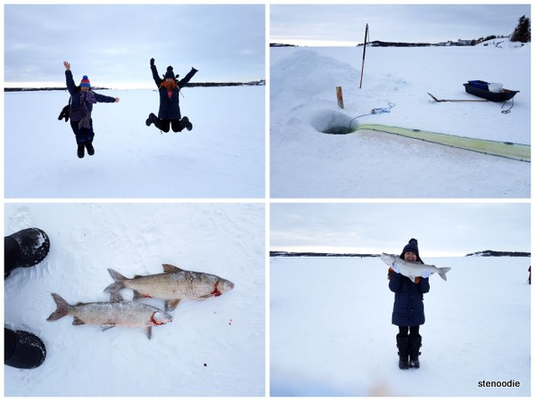 Great Slake Lave ice fishing