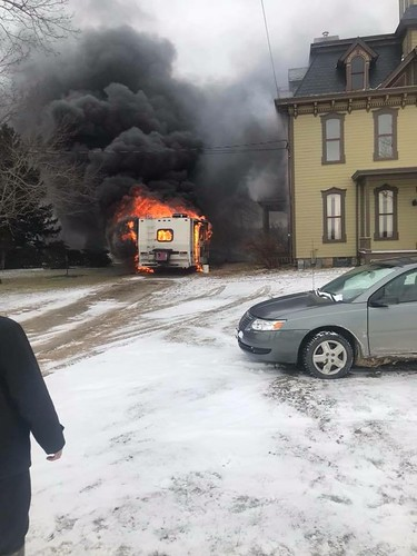 Motor-Home Fire Franklin Pike Feb 3 2018