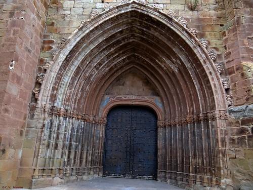 Mora de Rubielos, Teruel, Aragón, España. Antigua colegiata de Santa María.