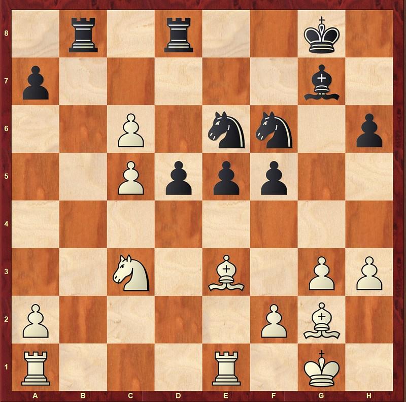 Stellling na 22… d6-d5