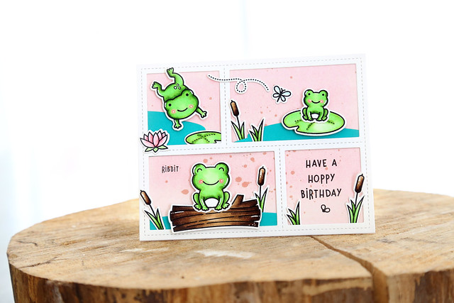 toadally awesome and a gingham sky (Lawn Fawn inspiration week)