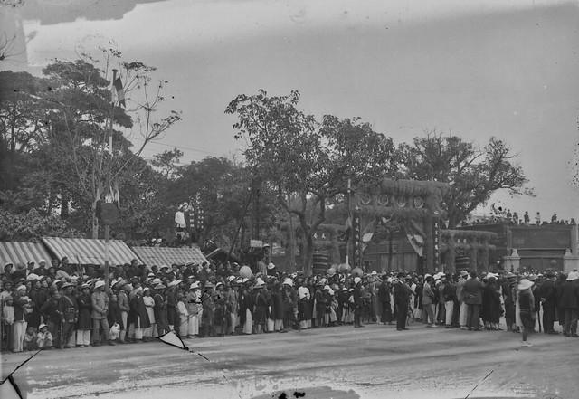 Photo:HANOI 1925 - Portique élevé pour l'arrivée du Gouverneur Général Varenne. By manhhai