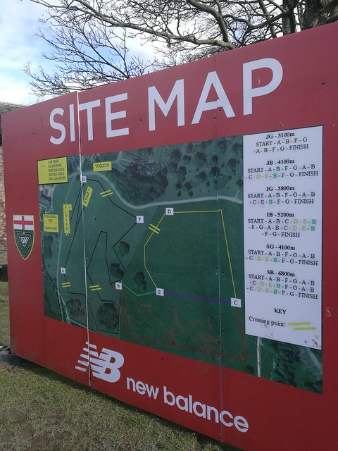 Course map at English Schools Cross Country
