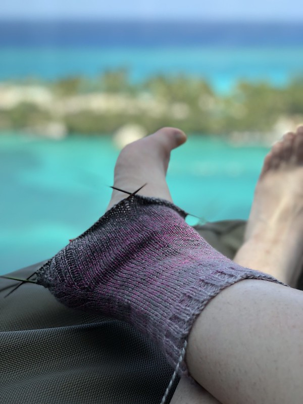 Knitting in the Bahamas