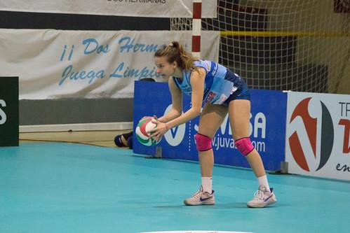 La jugadora del Cajasol Voley, María Rodríguez con la selección