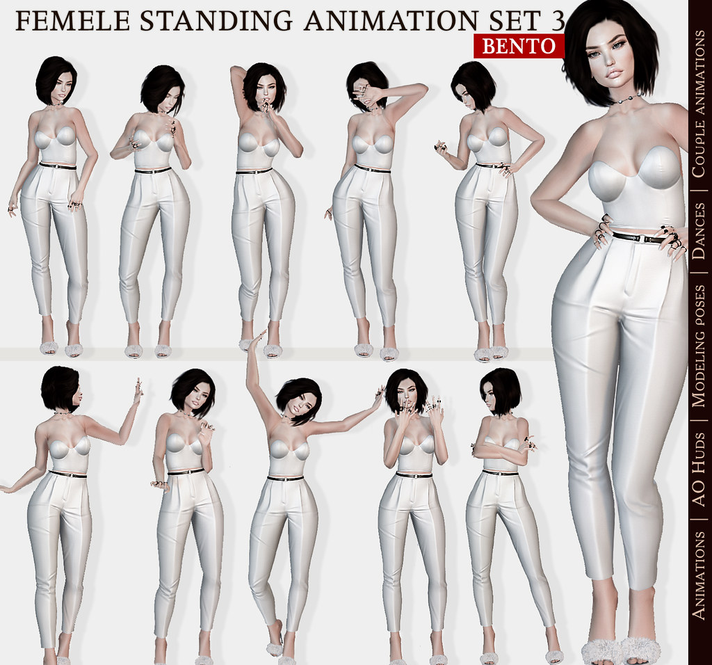 SEmotion Female Stands Set 3 – 10 HQ Bento Animations