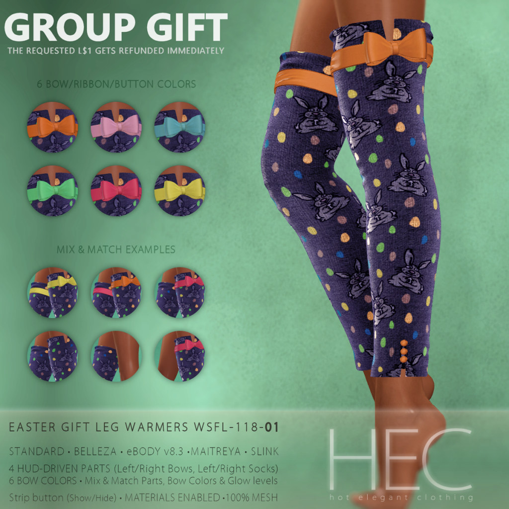 HEC (GROUP GIFT) • Orthodox Easter GIFT Leg Warmers WSFL-118-01