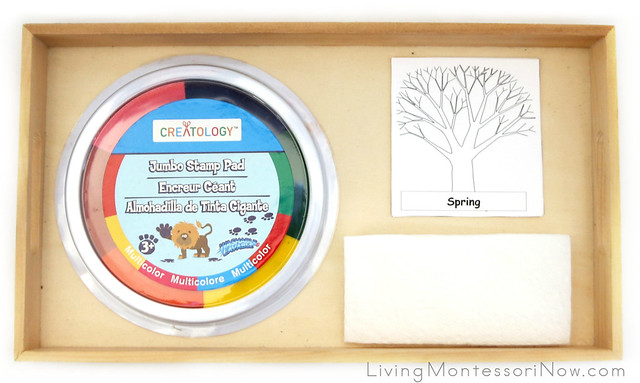 Fingerprint Trees through the Seasons Tray