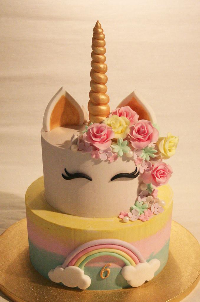 Unicorn Cake Torta Unicornio Di Vaniglia Ripieno Di