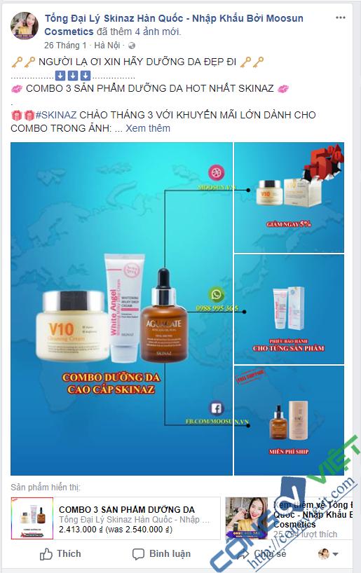 Ví dụ một số mẫu thiết kế ảnh quảng cáo Facebook Ads - CongVietIt.com
