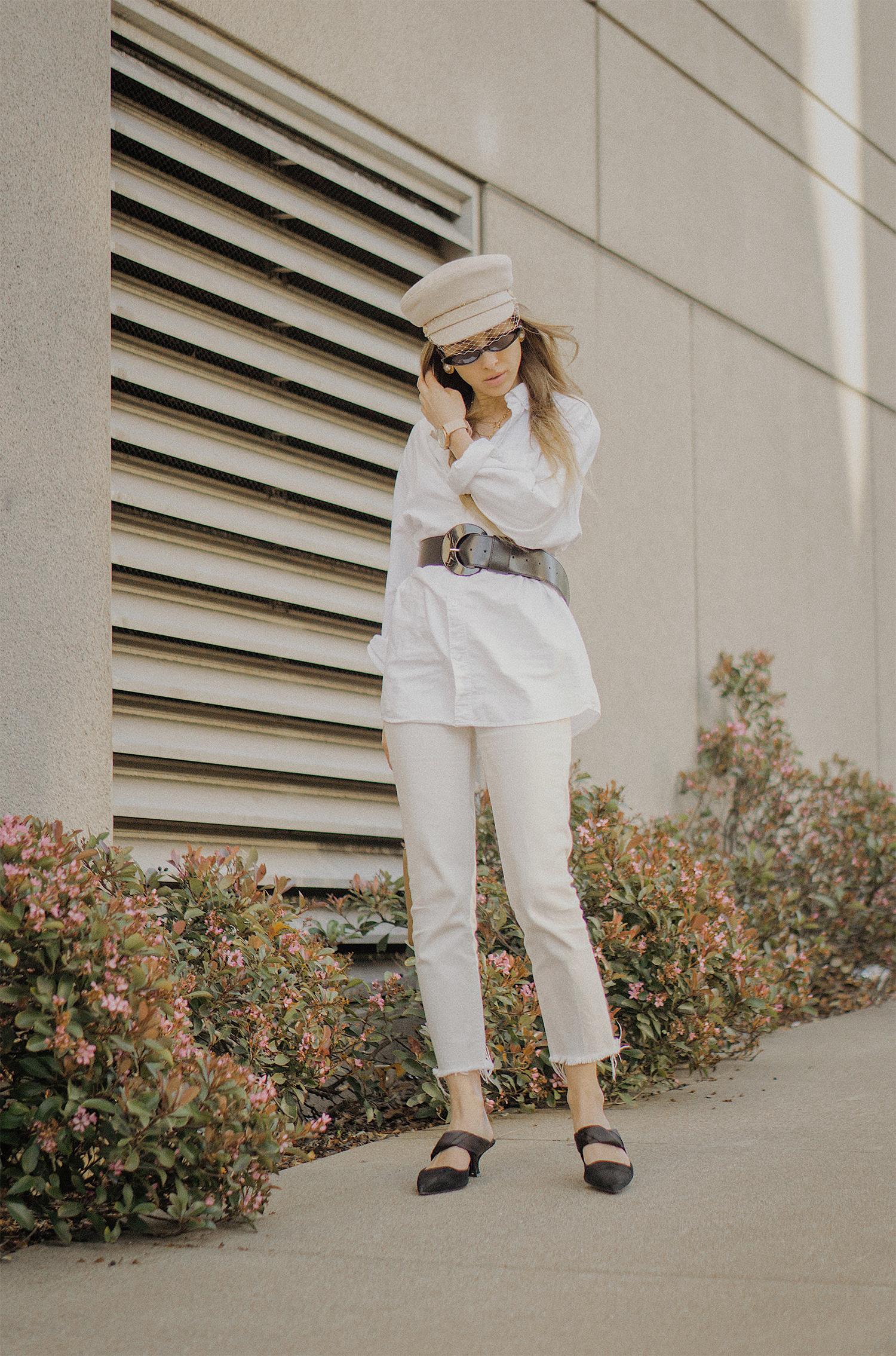 white_jeans_white_oversized_belted_man_cotton_shirt_vintage_bag_kitten_heel_cap_lenajuice_thewhiteocean_10