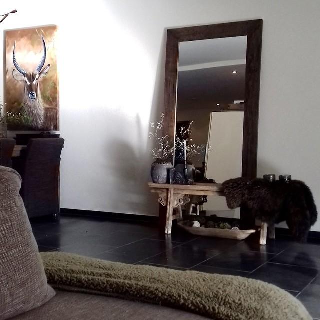 Spiegel houten bankje