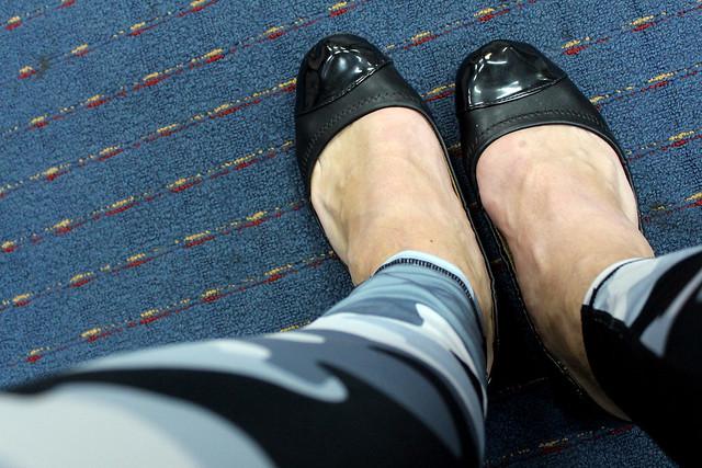 Ballet Flats with Shiny Toe Caps