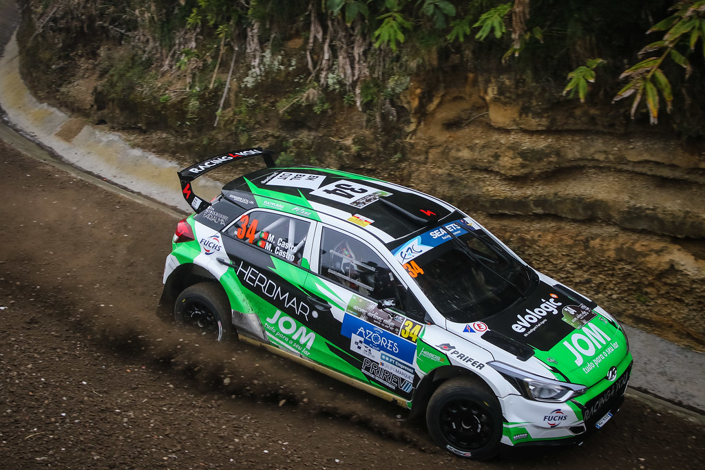 34 CASTRO Manuel (prt), Castro Mario(prt) , HYUNDAI I20 R5 , action during the 2018 European Rally Championship ERC Azores rally,  from March 22 to 24, at Ponta Delgada Portugal - Photo Jorge Cunha / DPPI