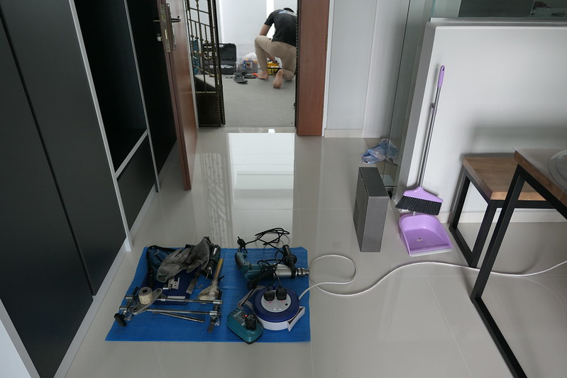 Installer's Tools Laid Properly