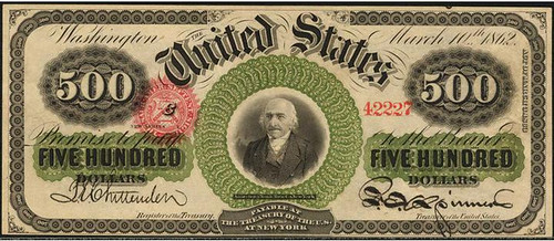 1863 $500 Legal Tender Note front