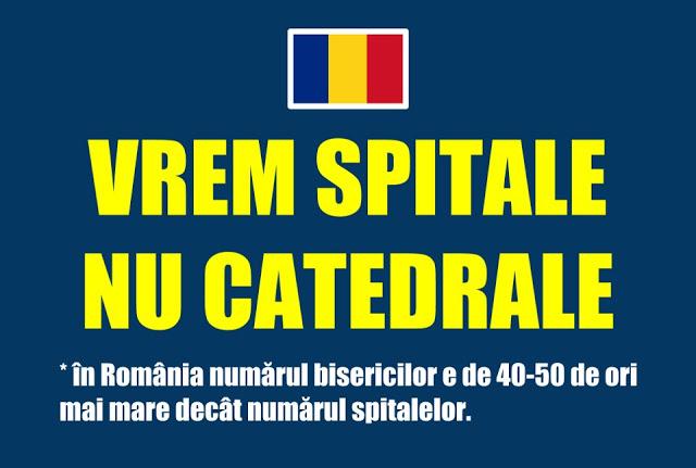 Vrem spitale, nu catedrale