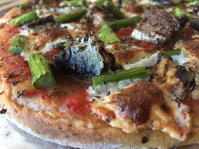 Sardine Asparagus Pizza