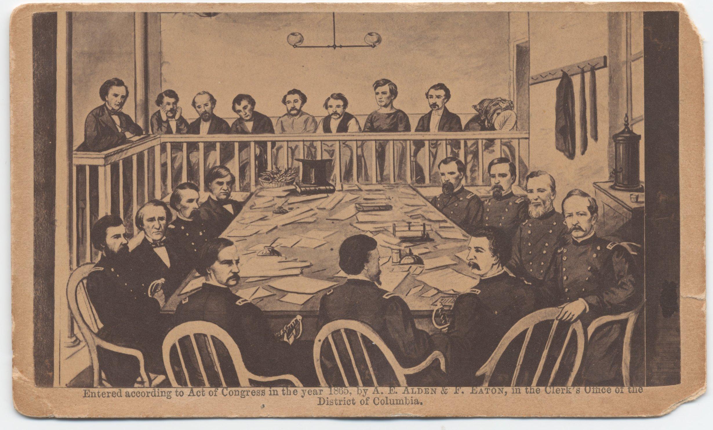 Trial of the conspirators, June 5, 1865