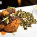 Nashville Hot Fried Chicken with collard greens