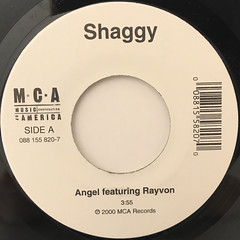 SHAGGY:ANGEL FEATURING RAYVON(LABEL SIDE-A)