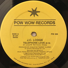 J.C. LODGE:TELEPHONE LOVE(LABEL SIDE-A)