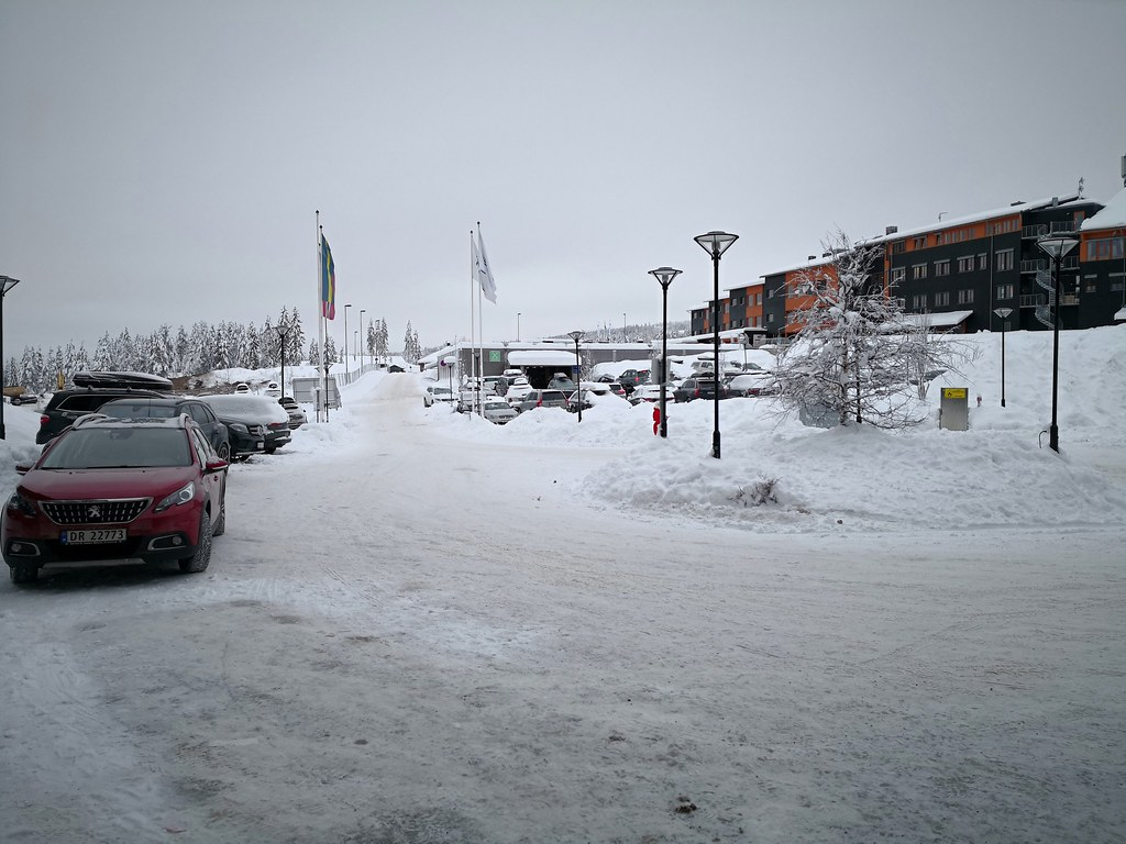 Driveway in winter