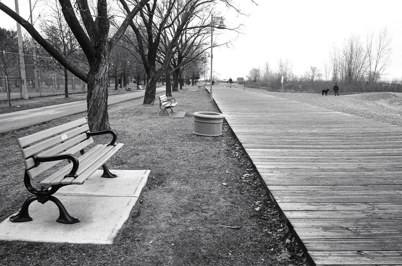 Benches and almost empty Boardwalk