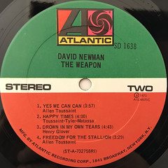 DAVID NEWMAN:THE WEAPON(LABEL SIDE-B)