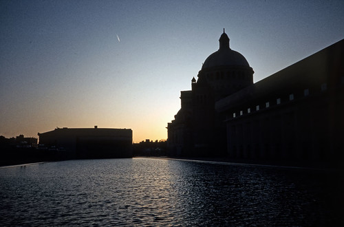 Christian Science Mother Church Reflecting Pool, Boston - Agfachrome - 1985 (1)