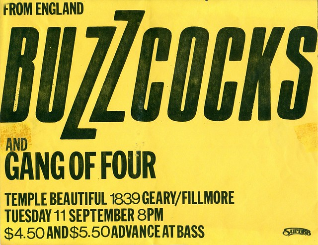 Buzzcocks and Gang of Four at Temple-Geary, San Francisco, CA 1980