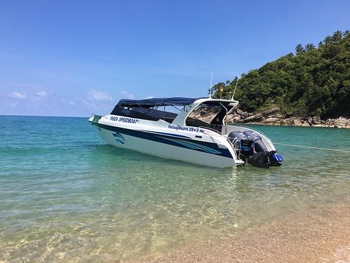 サムイ島 スピードボートチャーターで行く→パンガン島シュノーケル&周遊クルージング