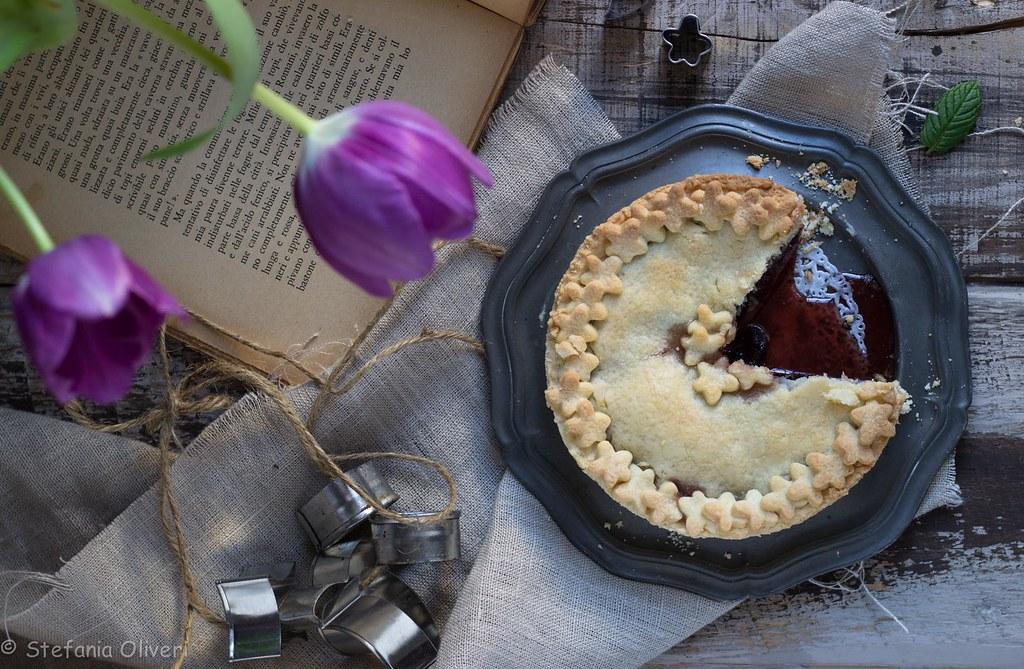 crostata alle ciliegie senza glutine cherry pie-9495