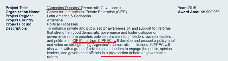 Argentina Debate NED