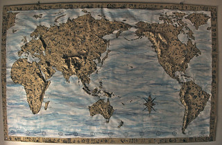 Relief world map