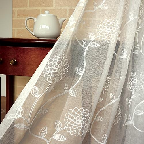 陶菊隱逸 簡約繡花 展覽場裝飾佈置 新娘禮服服裝裝飾布料 DB1590035