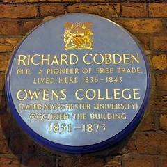 Photo of Richard Cobden blue plaque