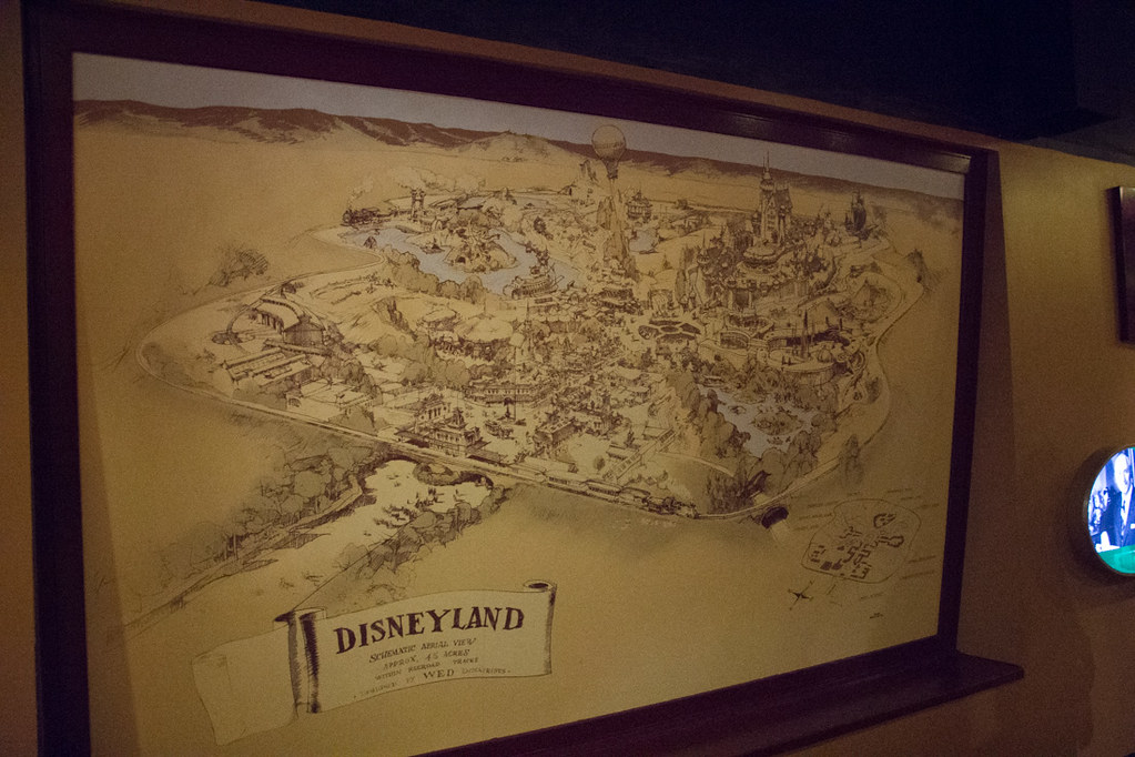 Map of Disneyland at Walt Disney Presents exhibit