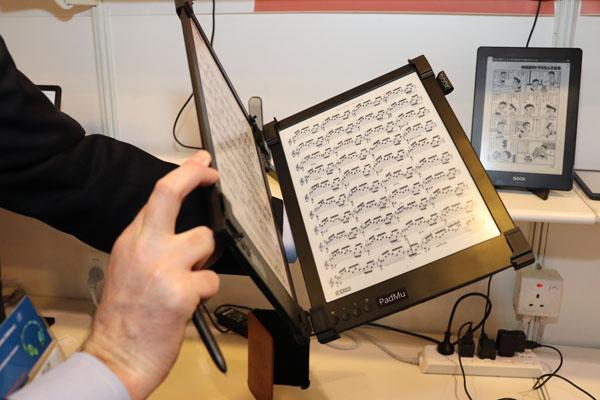 Padmu une nouvelle partition à encre numérique pour musiciens