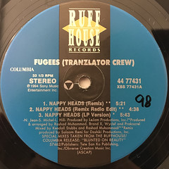 FUGEES:NAPPY HEADS(LABEL SIDE-A)