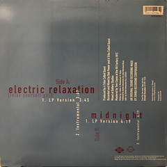 A TRIBE CALLED QUEST:ELECTRIC RELAXATION(RELAX YOURSELF GIRL)(JACKET B)