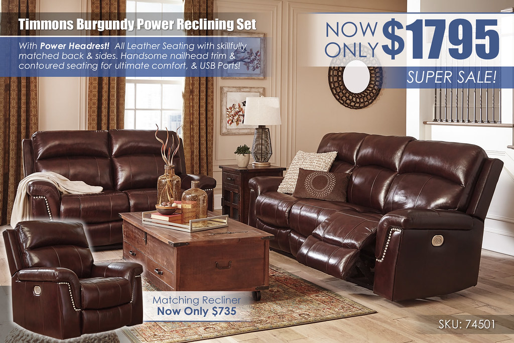 Timmons Burgundy Power Reclining Set_74501-15-14-T938-PILLOW